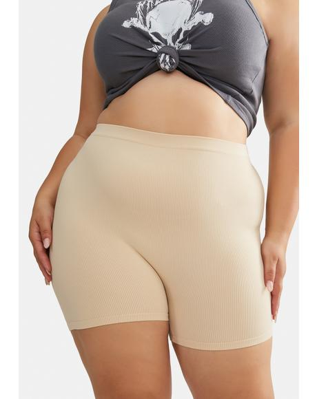 Nude Let's Take Action Bike Shorts