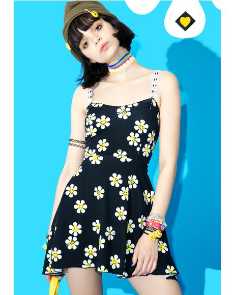 Daisy Dropper Skater Dress