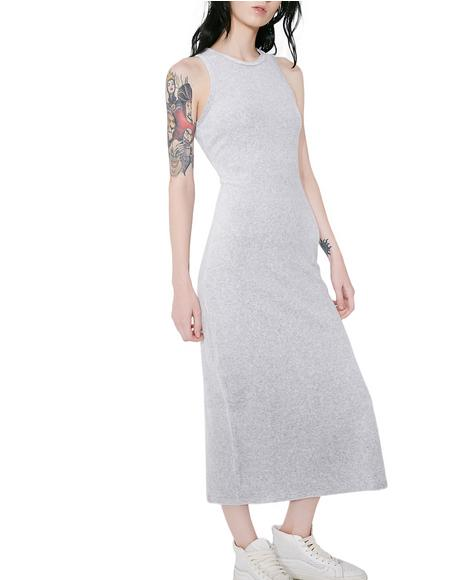 Stretch Velour Tank Dress