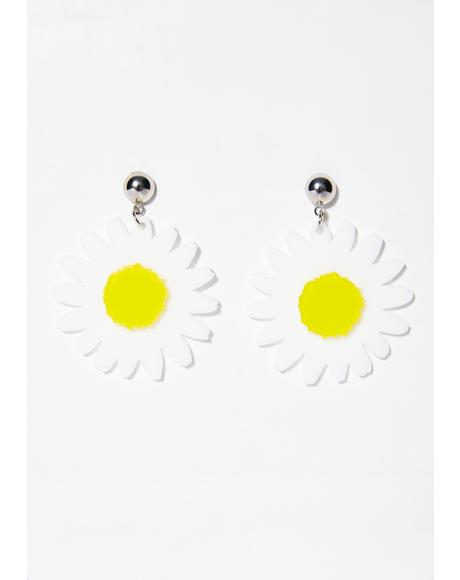 Petal Pusher Daisy Earrings