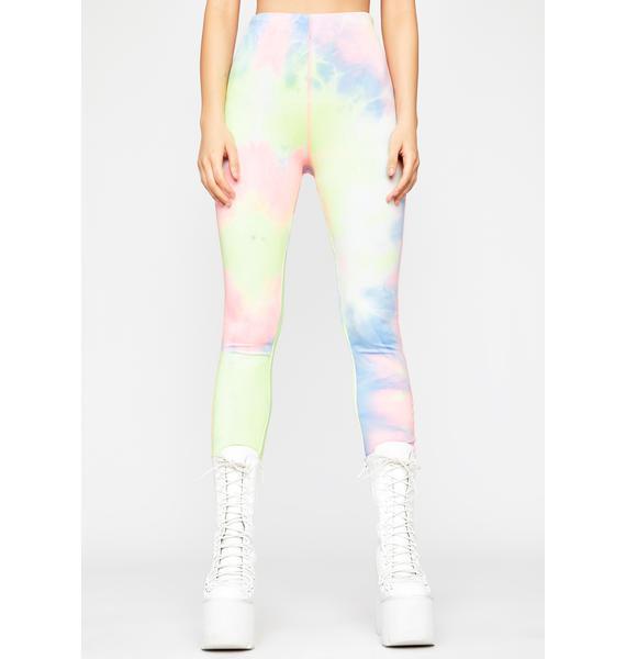 Plus Size Black /& White Tie Dye Print Legging 1 Size Fits 1X 2X 3X