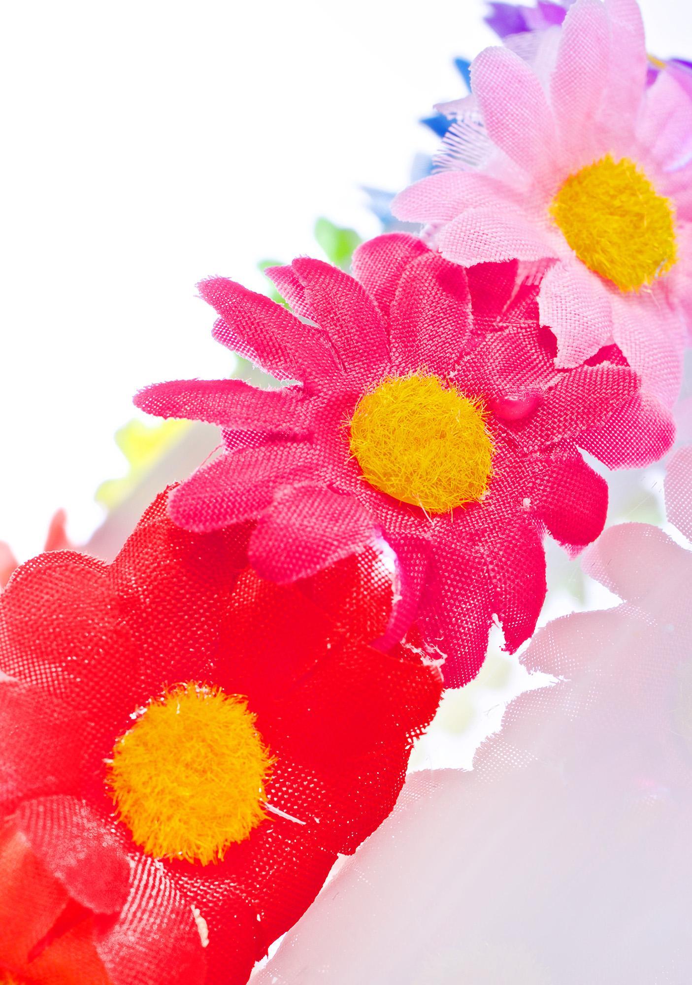 Rainbow Blooms LED Headband