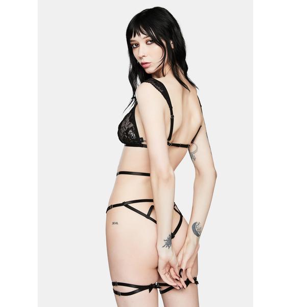 Oh la la Cheri Dionne Lace Bra And Panty Set With Garter Stays