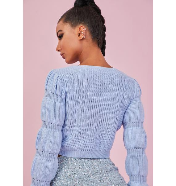 Sugar Thrillz Sky Miss Charming Knit Sweater