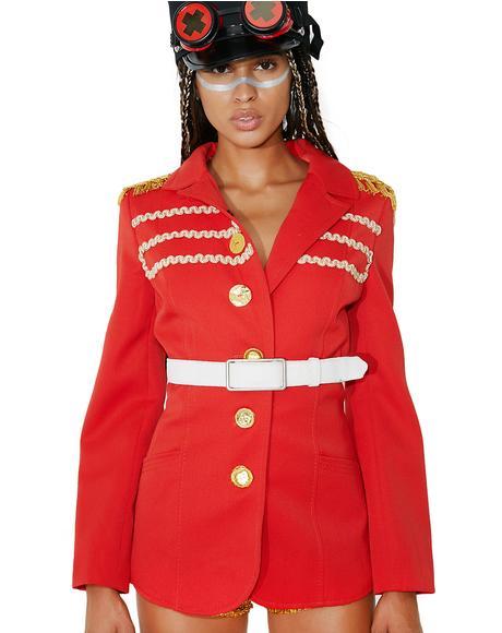 Vintage Belted Military Coat