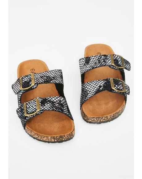 Venomous Steps Buckle Sandals