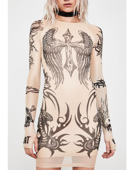 Lives For Sin Tattoo Dress