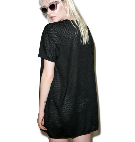 Disturbia Alien Mesh Tee Dress