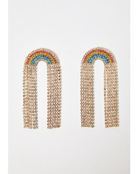 Glistening Euphoria Rhinestone Earrings