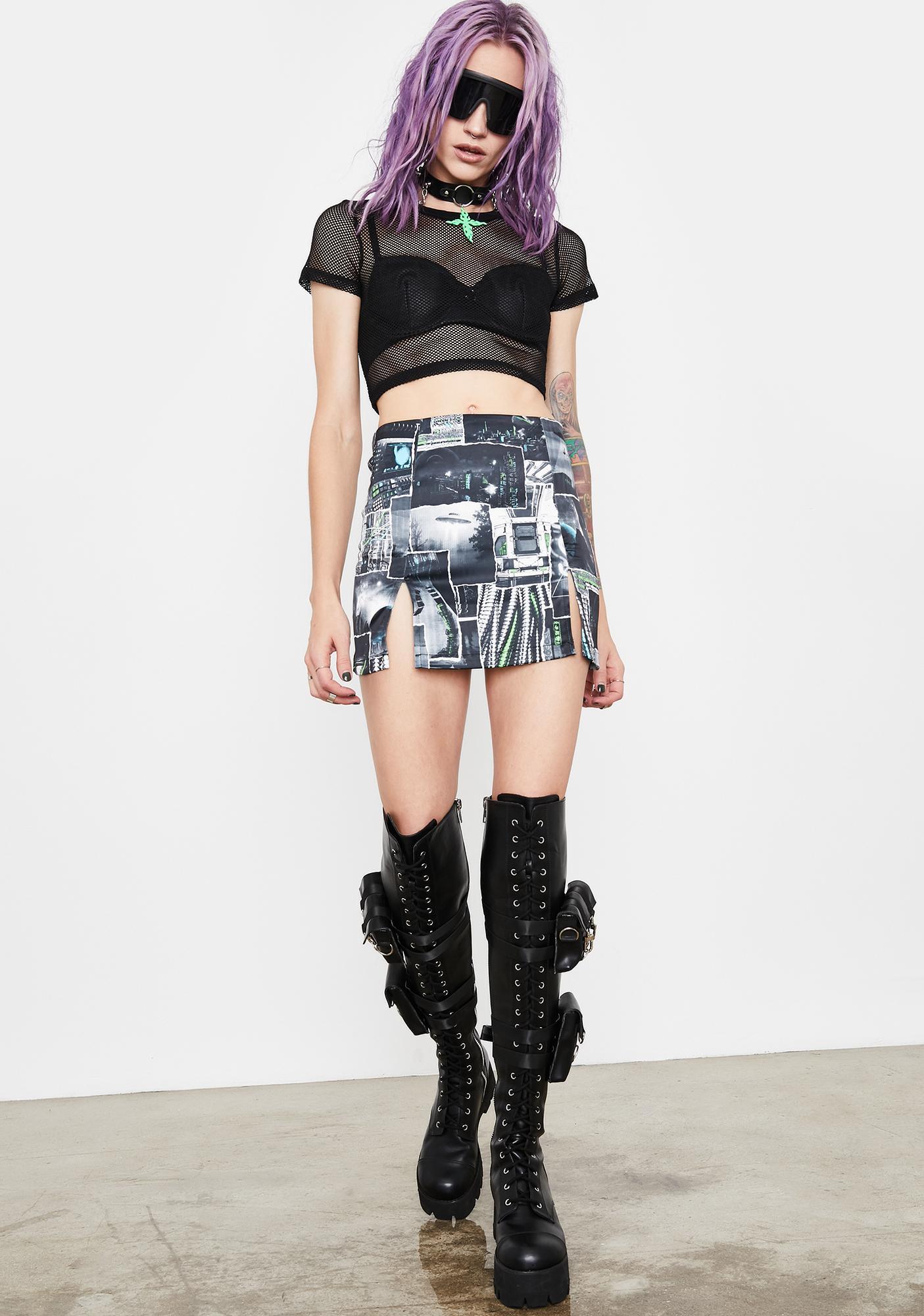 Current Mood Interstellar Memories Mini Skirt