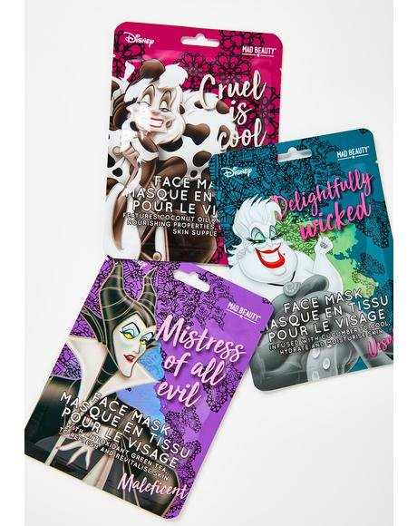 Disney Villains Face Mask Set