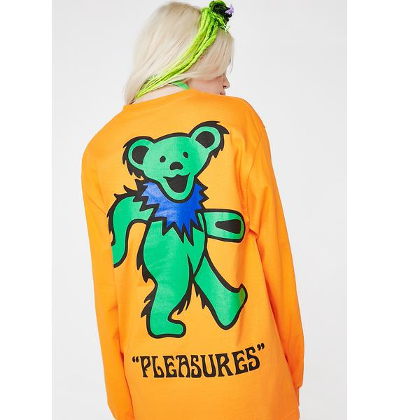 Pleasures Bear Long Sleeve T Shirt