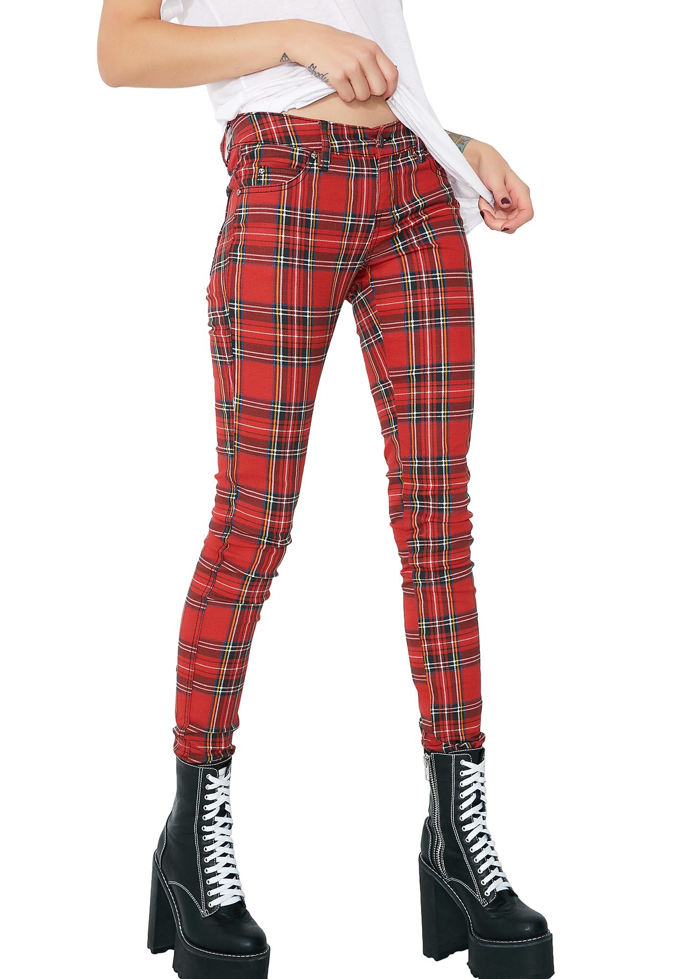 Tripp NYC Tartan Plaid Pants