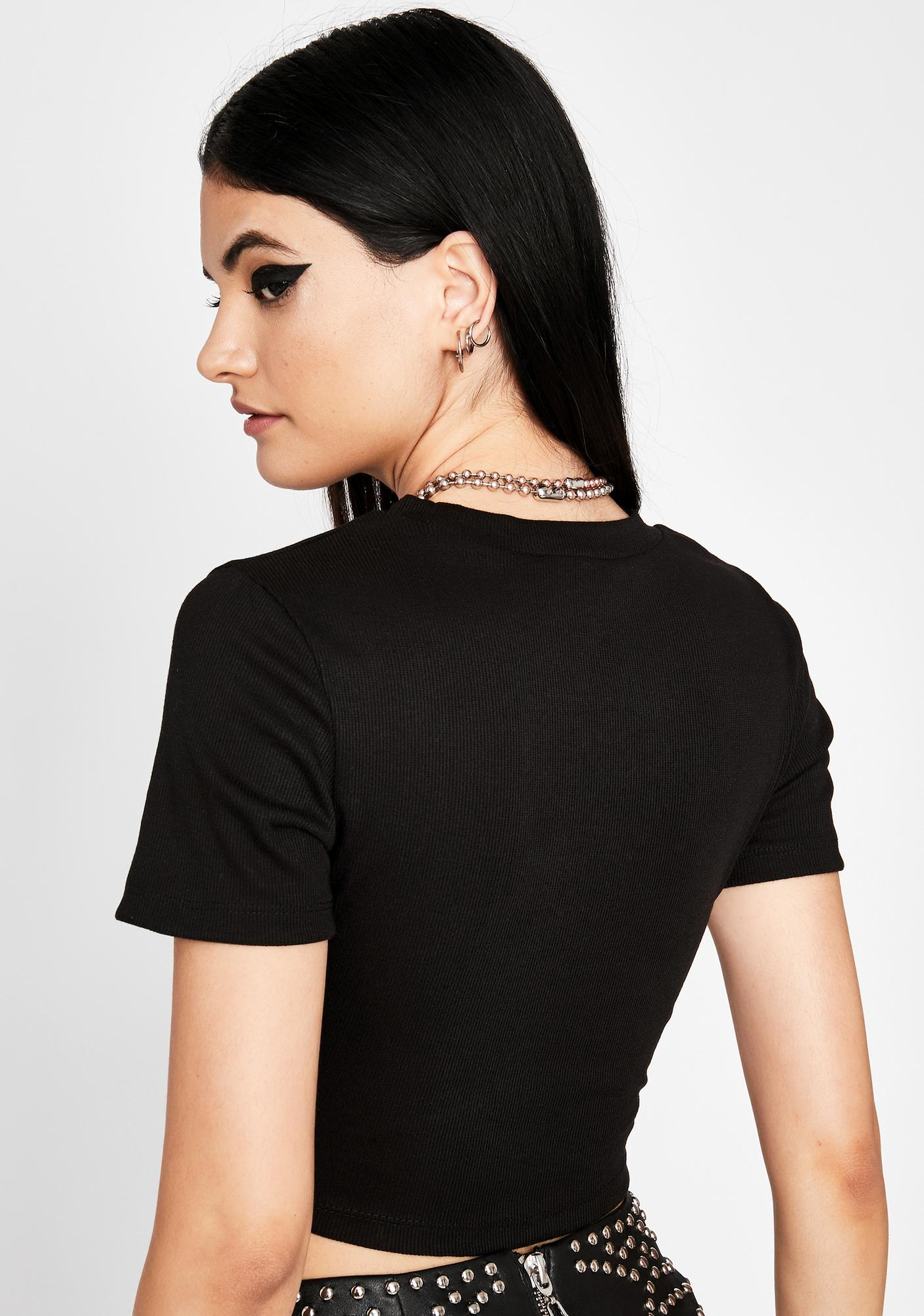 In A Daze Lace-Up Top