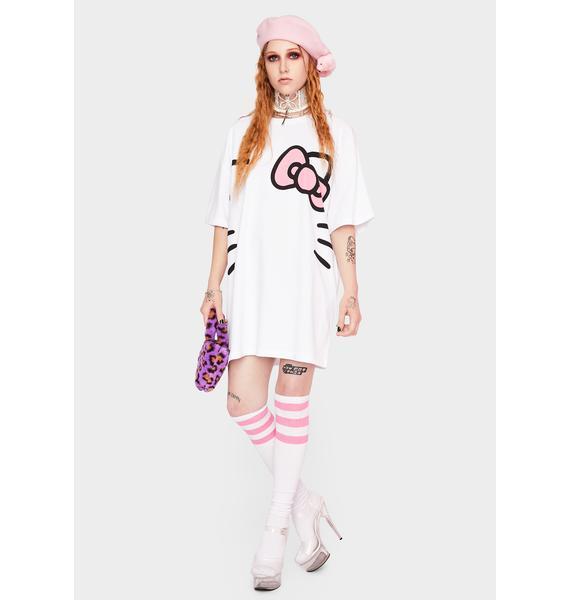 NEW GIRL ORDER Hello Kitty Oversized T-Shirt Dress