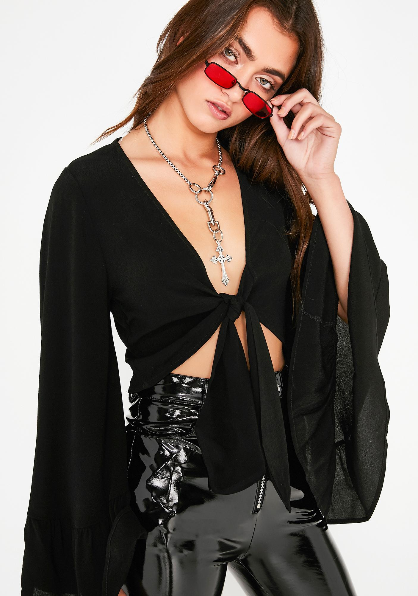 Witch Way Tie Front Top