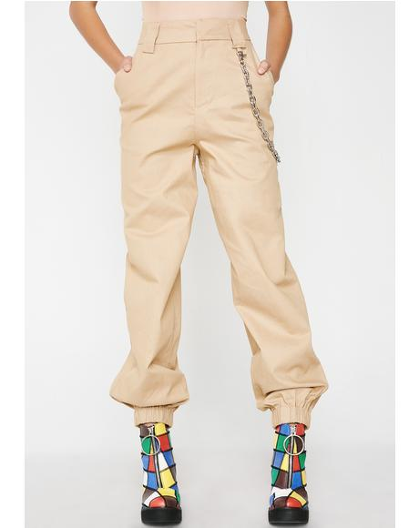 Tan Cobain Pants