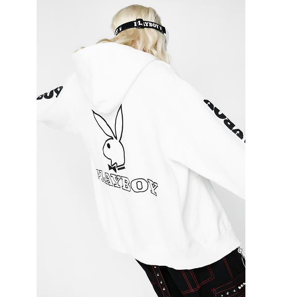 Vintage Playboy Zip Up Hoodie
