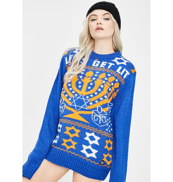 American Stitch Let's Get Lit Christmas Sweater