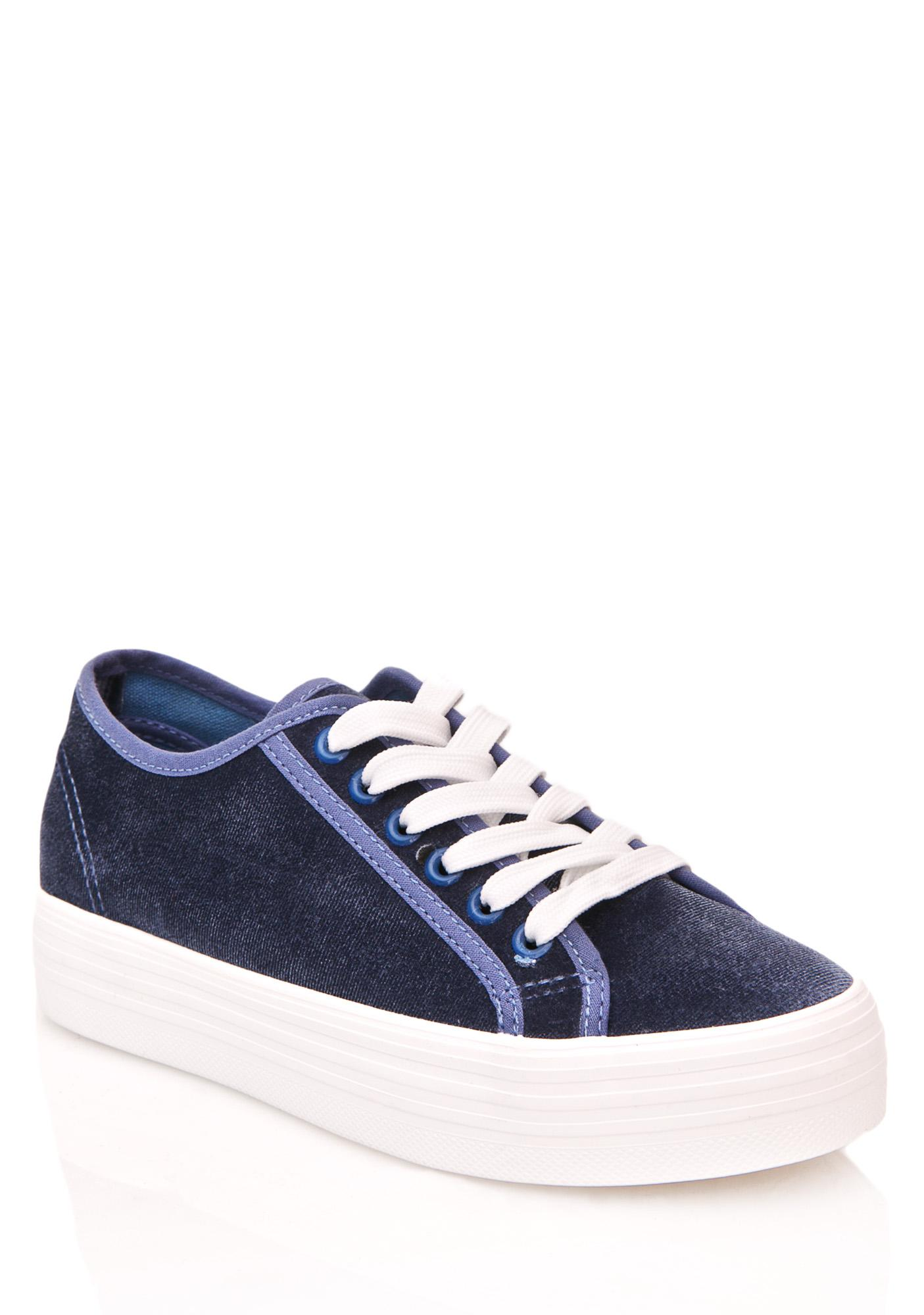 Another Level Velvet Sneakers