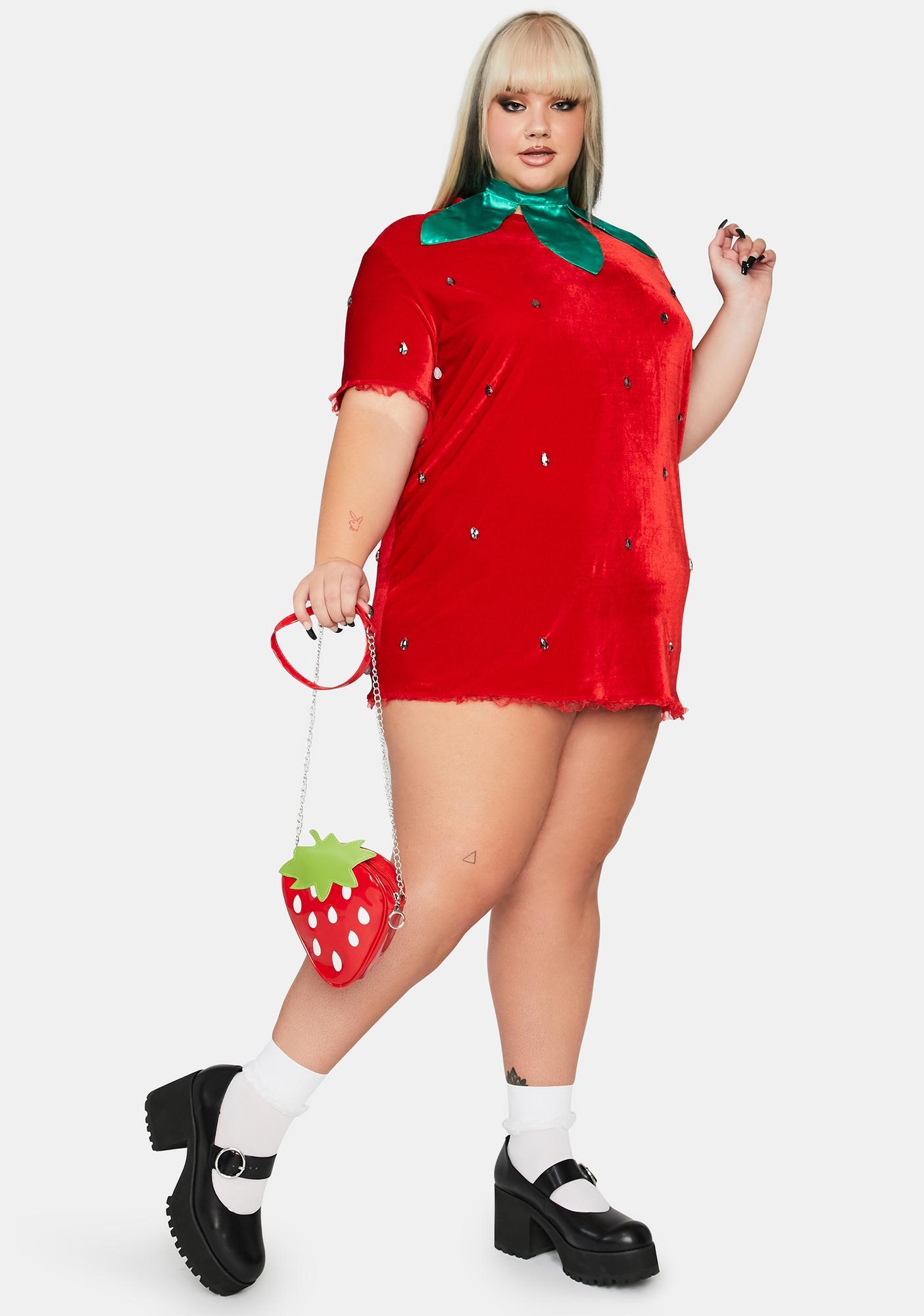 Dolls Kill So Berry Delicious Strawberry Costume