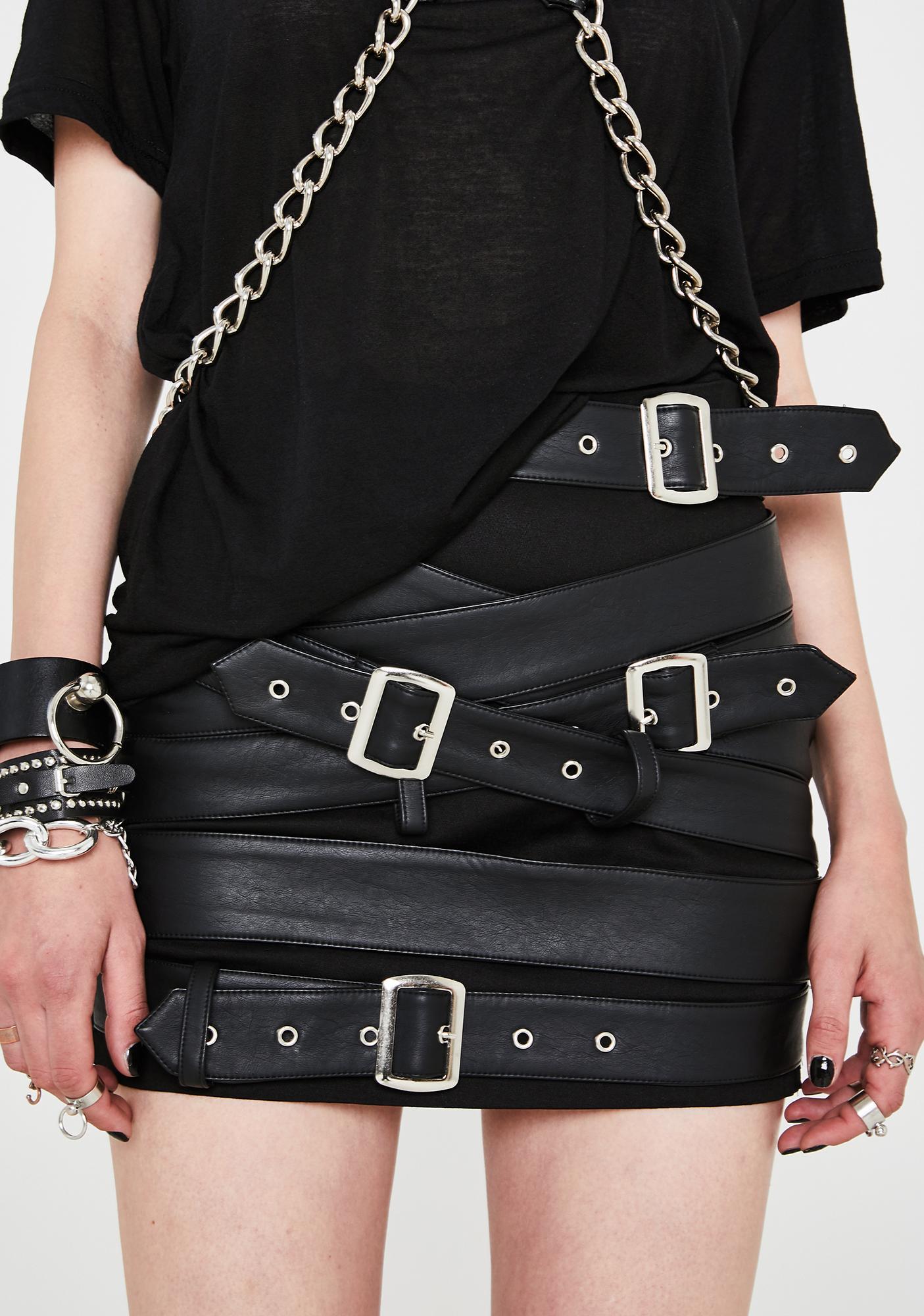 Current Mood Cash Strapped Mini Skirt