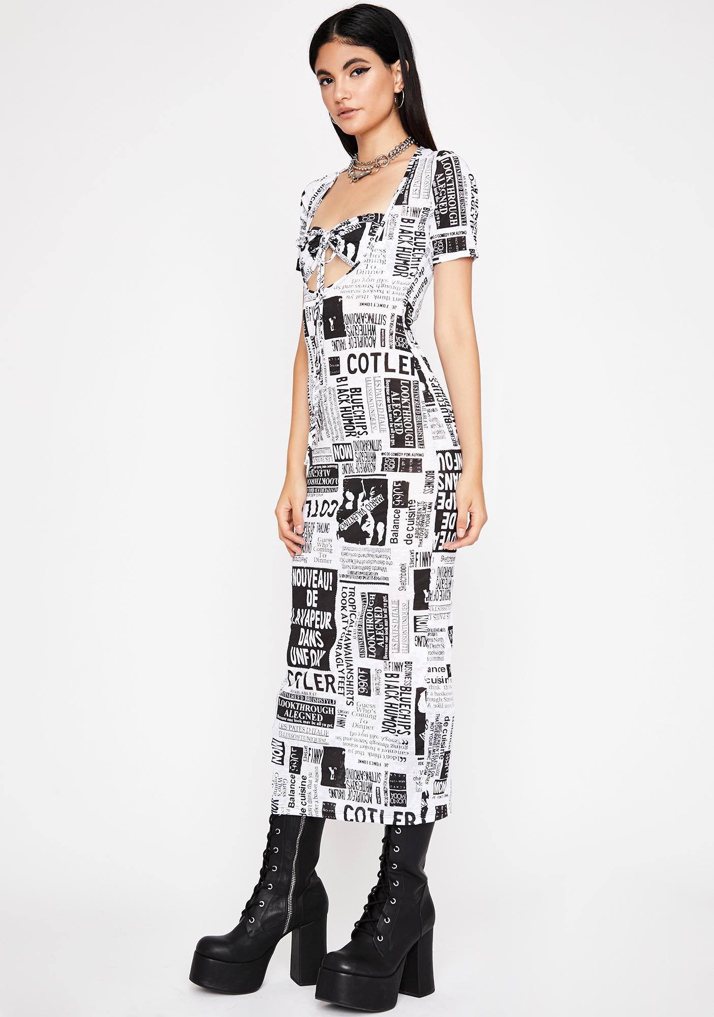 Makin Headlinez Maxi Dress
