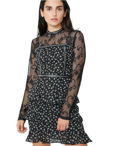 Ditsy Daisy Floral Dress
