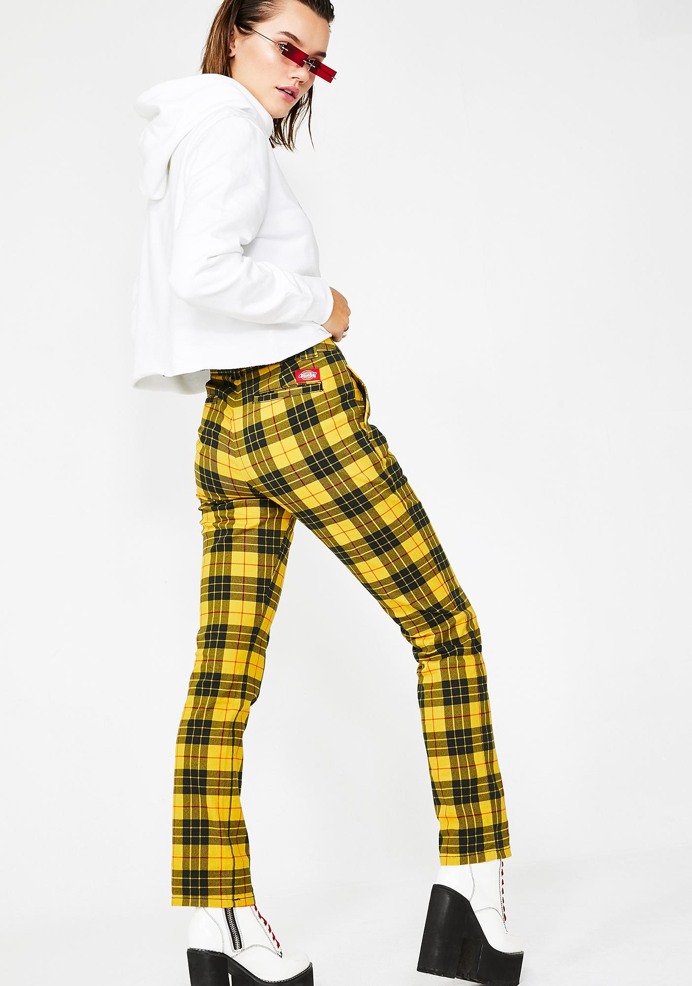Dickies Girl Mcleod Tartan Straight Work Pants
