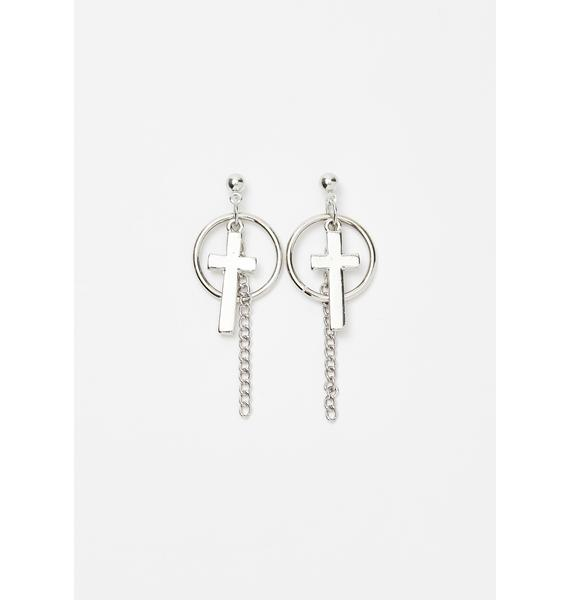 Crossfire Drop Earrings