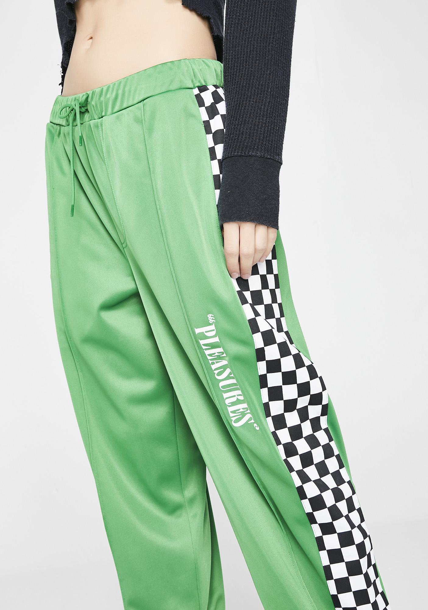 Pleasures Kush Checkered Track Pants