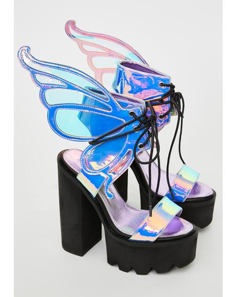 Pixie Princess Winged Heels