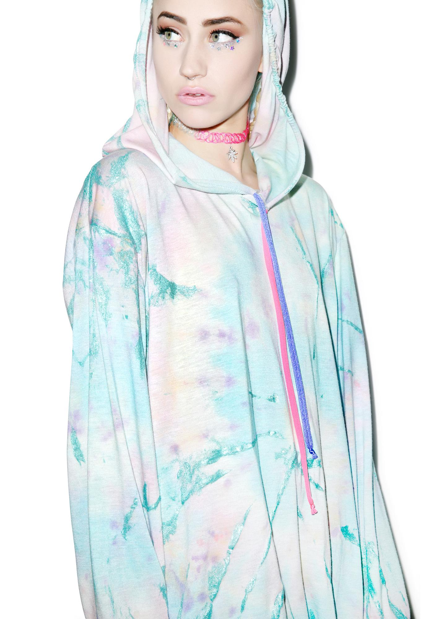Mamadoux Metallic Tie Dye Hooded Shirt
