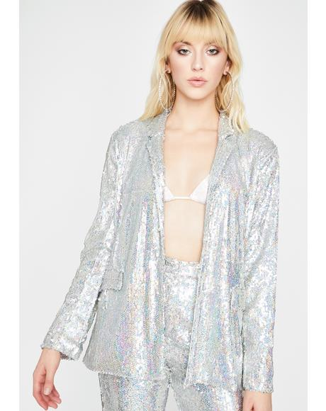 Much Needed Drama Sequin Blazer