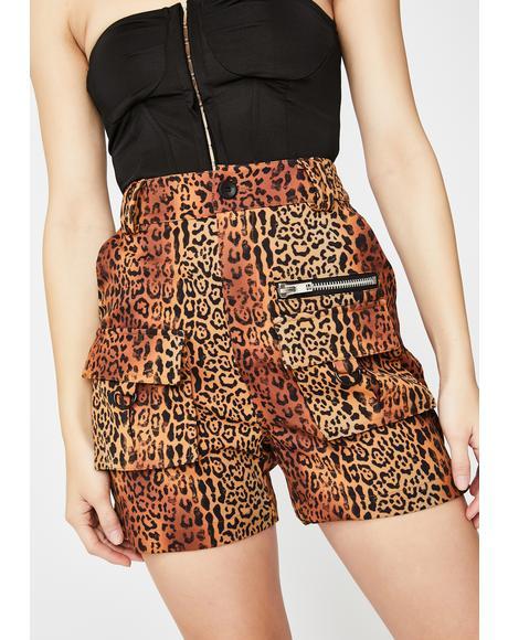 Leopard Matira Cargo Shorts