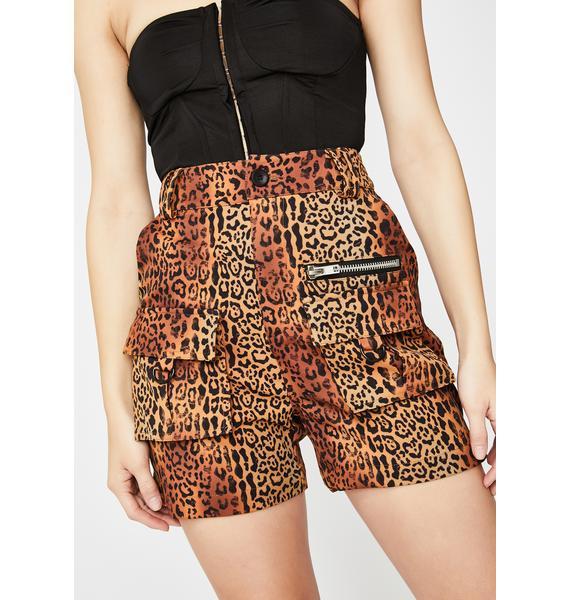 Nana Judy Leopard Matira Cargo Shorts