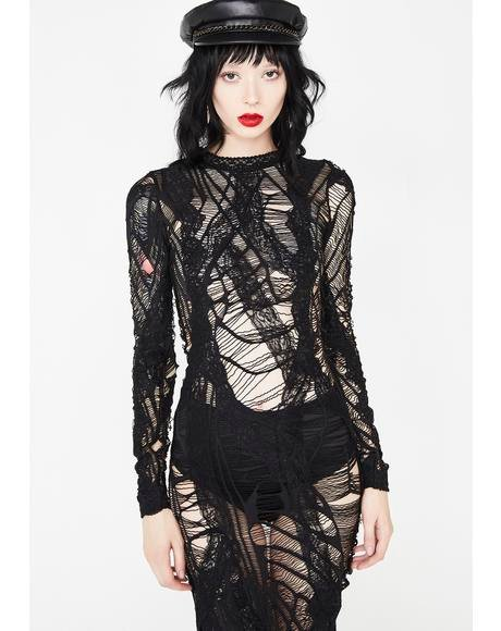 The Dark Web Sheer Dress