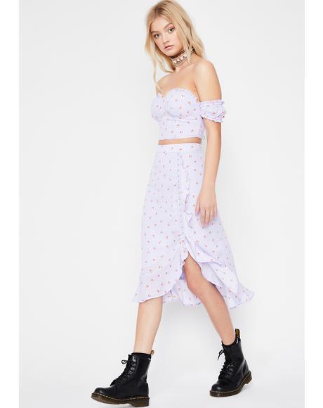 Springtime Sass Midi Skirt