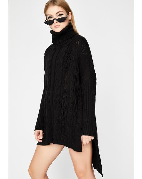 Night Sounds Tempting Oversized Sweater