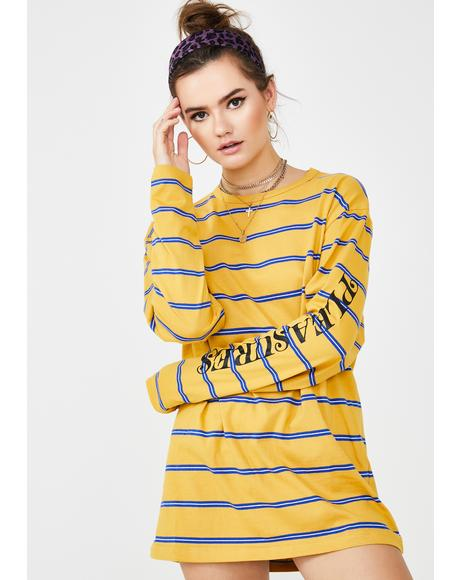 Sour Scream Striped Long Sleeve Shirt
