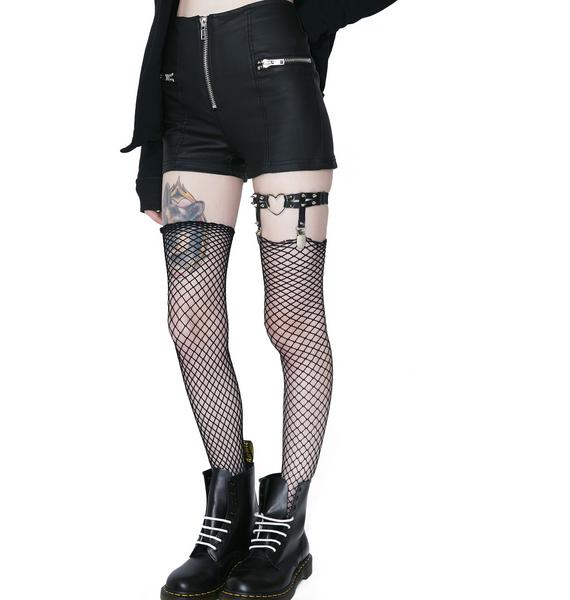 Onyx This Ain't Pleasure Suspender Garter