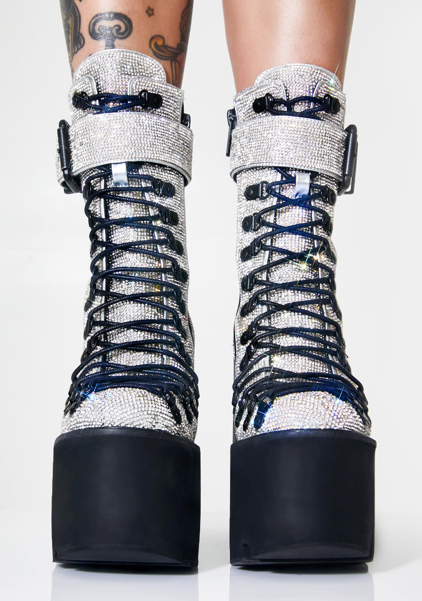 Club Exx Crystal Traitor Boots