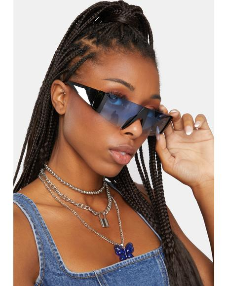 Feel The Spark Shield Sunglasses