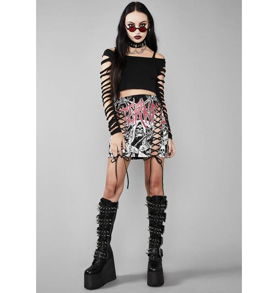 Widow Eternal Damnation Graphic Skirt