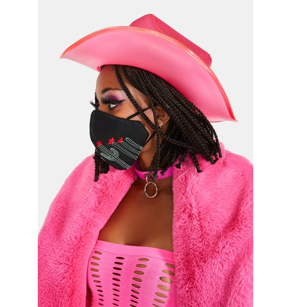 Neon Cowboys Cactus Color Changing Glow Face Mask