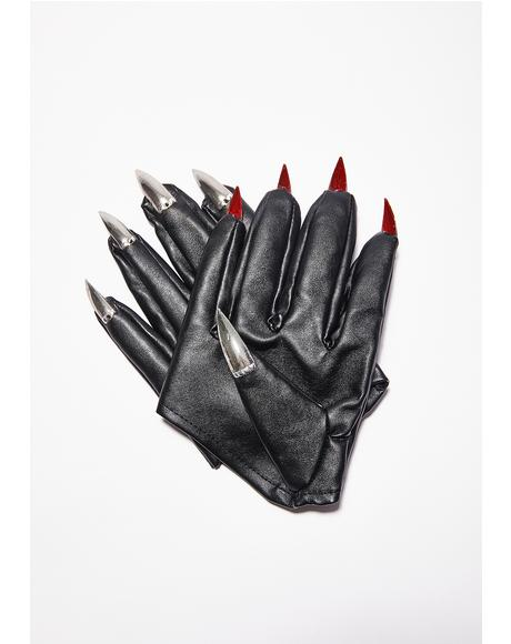 Spikes N' Studs Nail Gloves