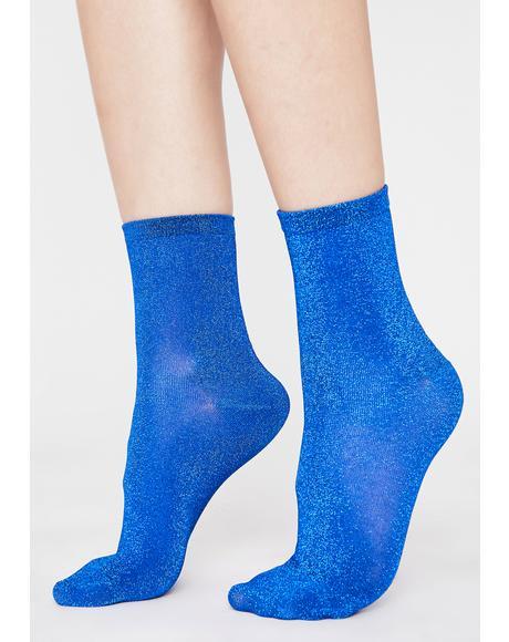 Merbae Lite On My Feet Glitter Socks