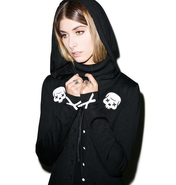 Sourpuss Clothing Party Skull Cardigan