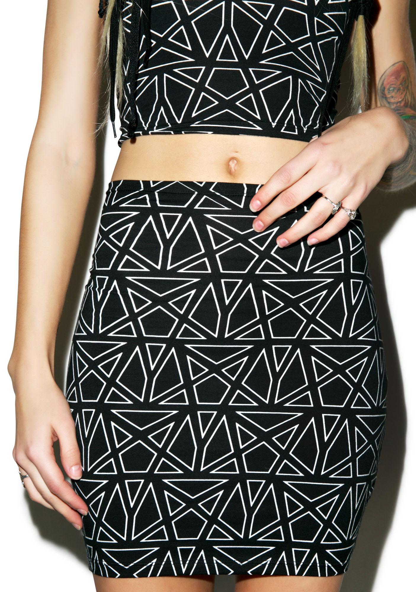 Motel Pentagram Kimmy Skirt