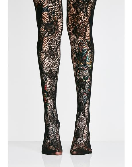 Baby Monster Lace Tights